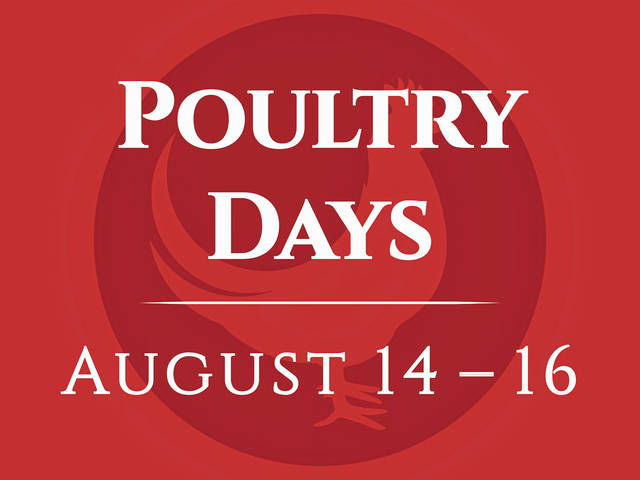 The Poultry Days Committee announced it will not hold live entertainment, rides, 5K and adult beverages at this year's festival due to COVID-19 precautions.