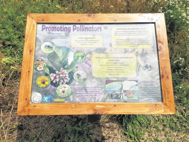 New signs providing information on pollinators were recently installed at Pollinator Meadows on the south side of the Bish Discovery Center parking lot.