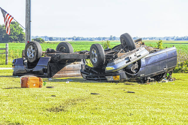 A Sunday morning crash saw one airlifted to Dayton Children's Hospital.