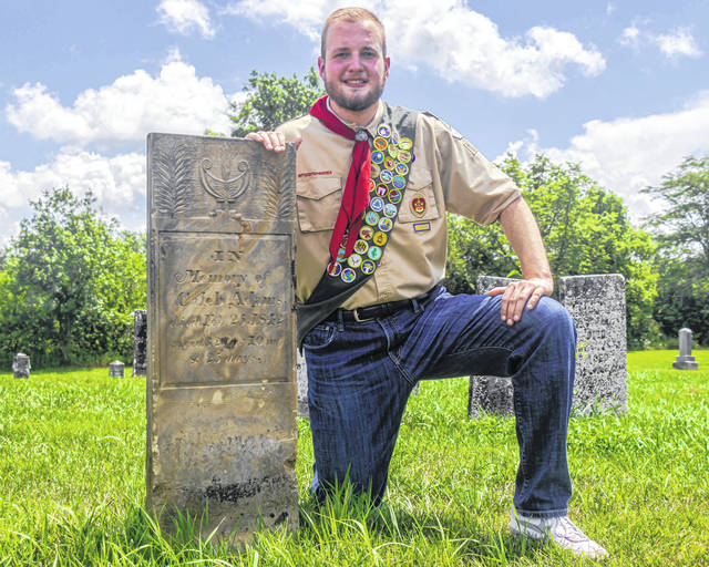 Mason Wykes of Greenville earned his Eagle Scout badge for organizing a cemetery restoration project.