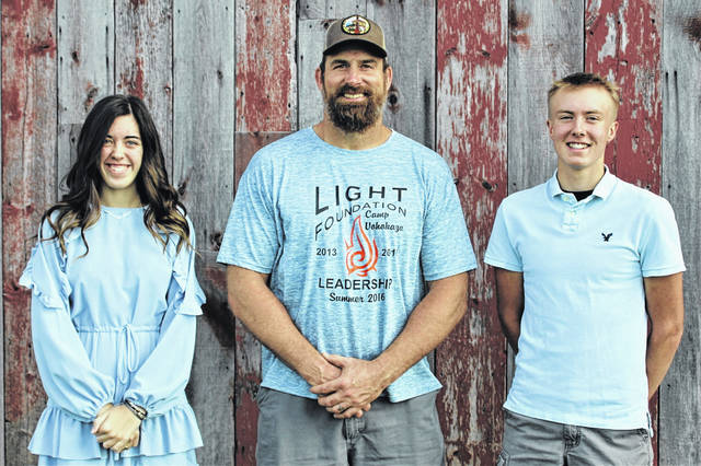 2020 Light Foundation Scholarship recipients (L-R) Abbigail VanHoose, Matt Light and Landen Fraylick.