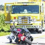 Two injured in motorcycle-related accident