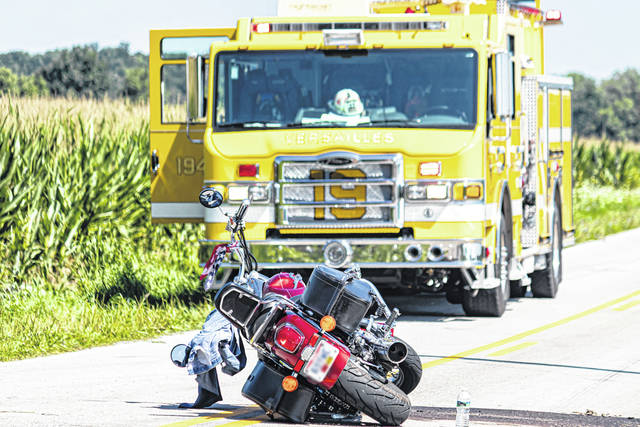 Two people received medical treatment following a motorcycle wreck Saturday morning.