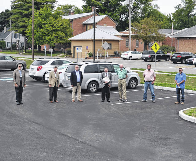 The Garst Museum celebrated the near completion of its new parking lot on Friday.