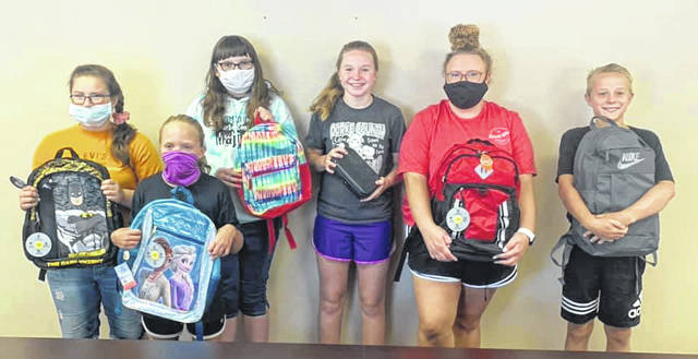 Picture (L to R): Members of the Blue Angel 4-H group Katelyn Yoder, Glori Rausch, Ella Williams, Alivia Addis, Hayleigh Spires, and Evan Addis