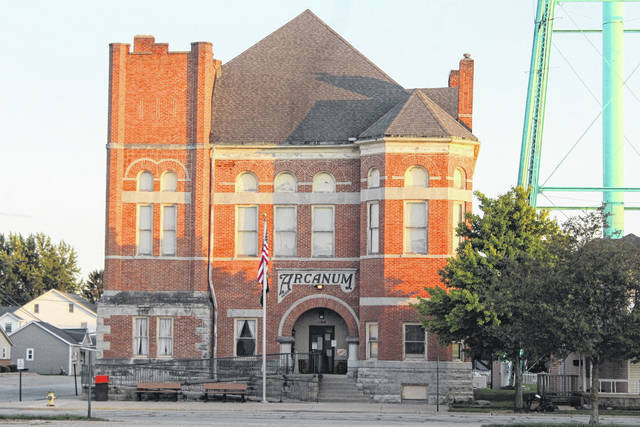 The old city building in Arcanum was recently designated as an Ohio historical landmark. Efforts to restore the building are currently in progress and the village council has been pleased with efforts thus far.