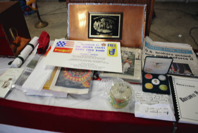 Rob Kiser|Advocate Photo Some of the items that were contained in the time capsule opened Monday.
