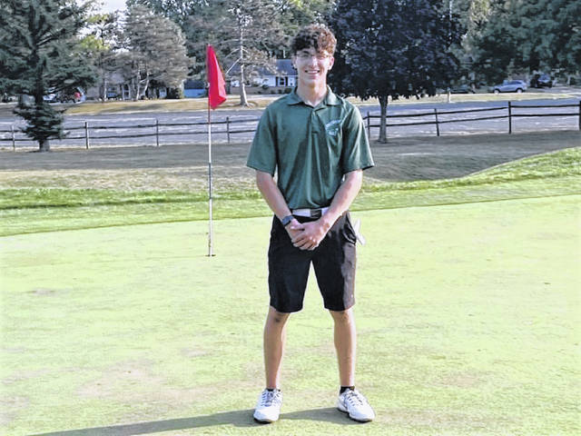 Greenville's Alex Kolb makes a hole in one at Vandalia's Cassel Hills Golf Course.