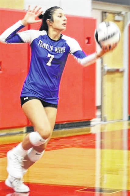 Skylar Bauman sets a new Franklin Monroe Lady serving record in the Lady Jets win over Milton-Union.