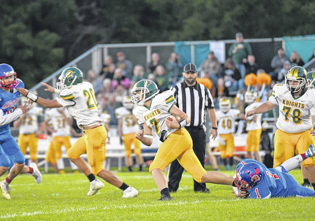 Union City Indians attemp to stop a Northeastern run in the team's Friday night loss.