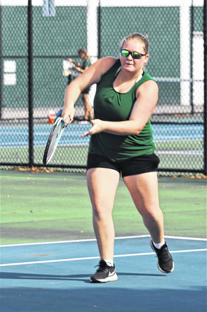 Cheyenne Hartsock get second doubles win at Stebbins.