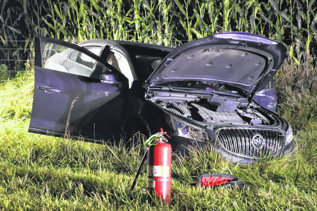 An Indiana woman was treated for injuries after a single vehicle accident Thursday night.