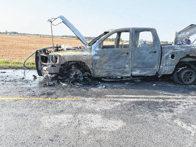 Hollansburg fire fighters extinguished a vehicle fire at 2500-B Hollansburg-Richmond Road Thursday. No one was injured.