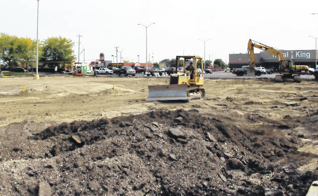 Excavation work began just in front of Rural King this week in preparation to build a new Hardee's restaurant in Greenville.