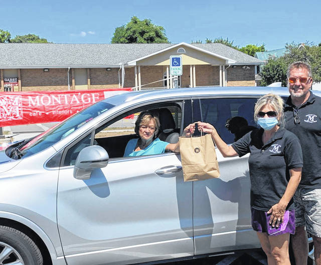 Linda Newbauer, Annie's G.A.L.A. committee person, has ordered her personalized dinner from Montage's Aaron and Michelle Cox, and will pull into the new Garst Museum parking lot to pick up her dinner on October.