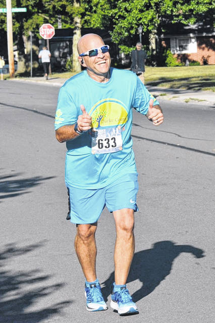 Christopher Knick of Arcanum participates in last year's Sunshine 5K in Greenville City Park. This year's event is Sat., Sept. 19, in the park, with socially distant start times from 8-8:45 a.m. and guidelines to keep participants safe.