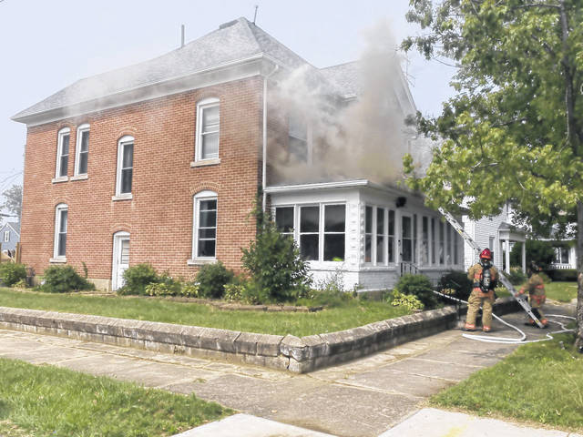 A family home in Greenville suffered fire damage Monday afternoon. There were no injuries reported.