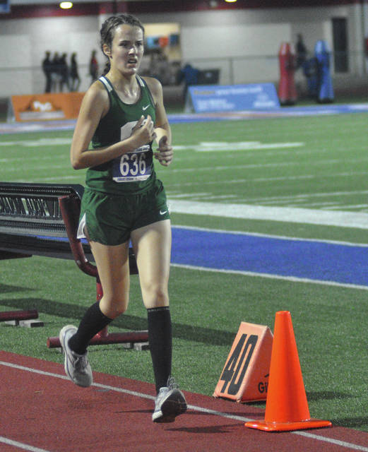 Greenville's Elise Hays has the finish line in sight Saturday night.