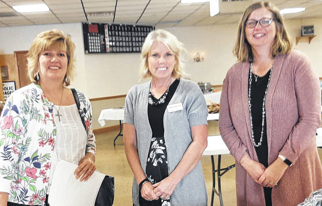 Shown from left to right are Greenville BPW Guest Night committee members Kim Fisher, Melissa Barhorst and Susan Shields.