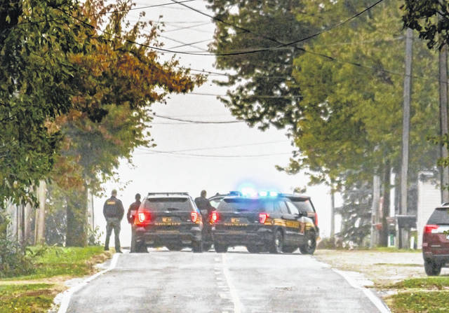 Darke County Sheriff's Office cruisers blocked passage during a standoff with a man in Glen Karn Monday evening. The man was subdued and taken to Wayne HealthCare for evaluation.