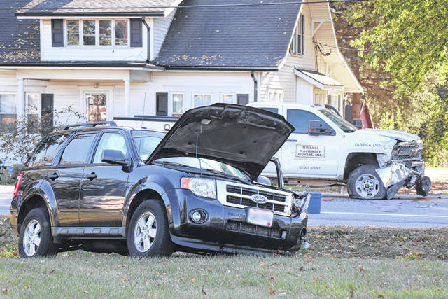 One person was treated for non-life-threatening injuries following a Tuesday collision at Arnold Road and State Route 571.