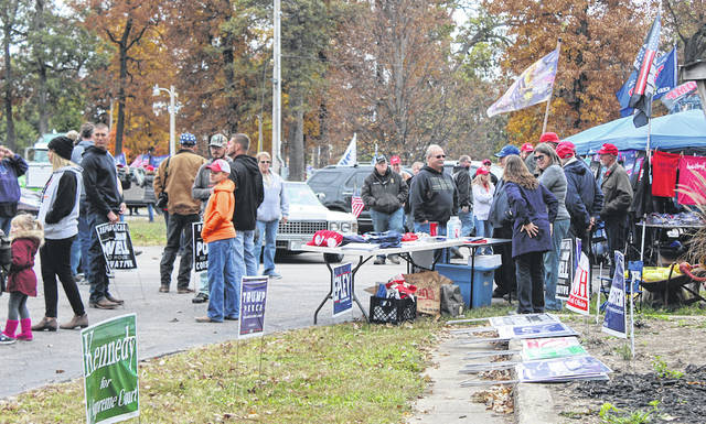 A sizable number of Darke County residents gathered at the Darke County fair grounds on Sunday afternoon to show their support for Republican candidates.