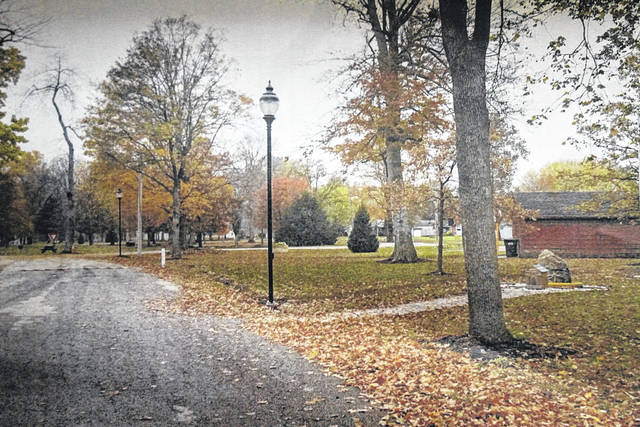 The Village of Arcanum recently installed new decorative lighting in the town's Ivester Park.