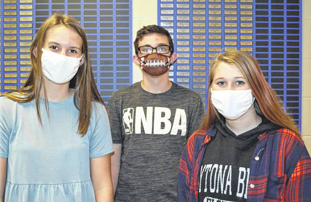Courtesy photo The Miami East-MVCTC Urban Soils Team includes, from left, Ava Prince, Landin Putnam and Kynlee Patton.