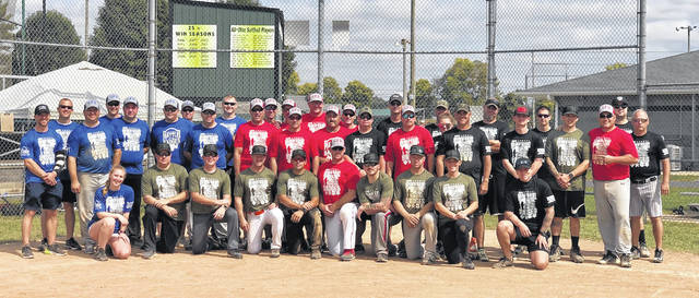 The Battle of the Badges tournament teams; Darke County Sheriff's Department, Greenville Police Department, Greenville Fire Department and Greenville Township Rescue and Fire.