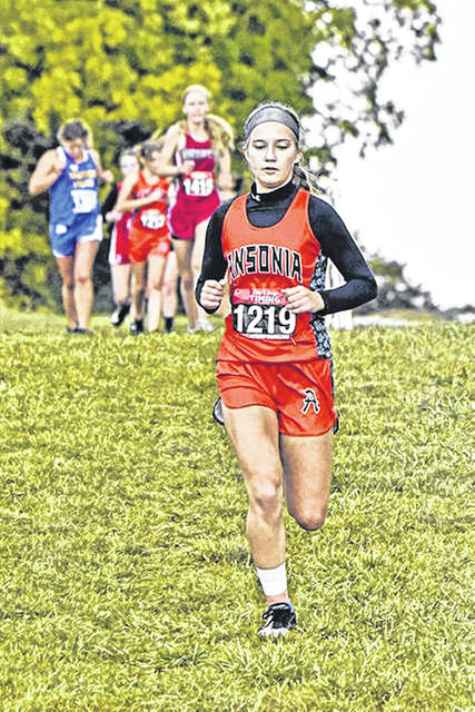 Ansonia cross country runner, Melanie Kutter.