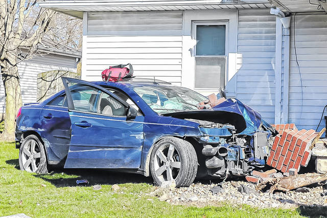 Two people were airlifted to Miami Valley Hospital following an accident in which a car struck a residence in Coletown. No occupants of the home were injured.