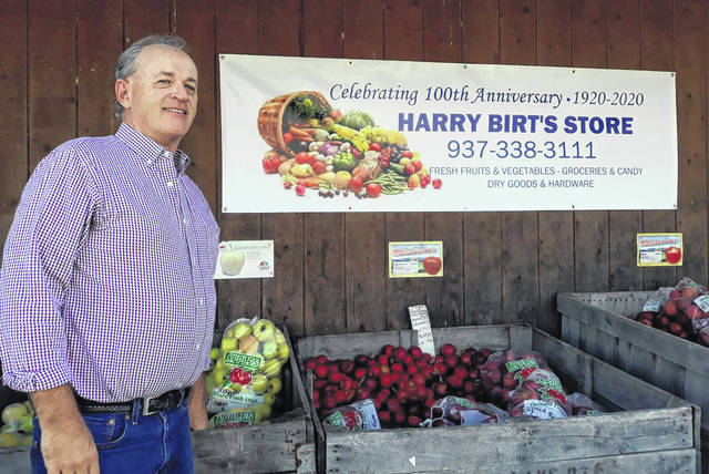 Brad Birt, owner of Harry Birt's Store in New Weston, is celebrating its centennial this year. The first Harry Birt's Store opened in October, 1920.