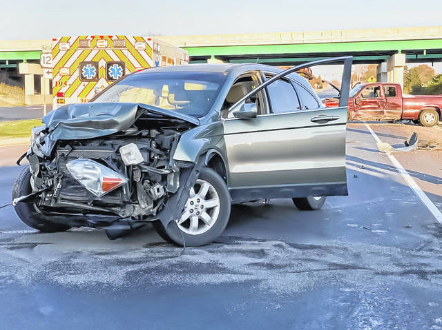 A driver was treated for minor injuries following a two-vehicle collision Saturday afternoon at US Rt. 36 and US Rt. 127.