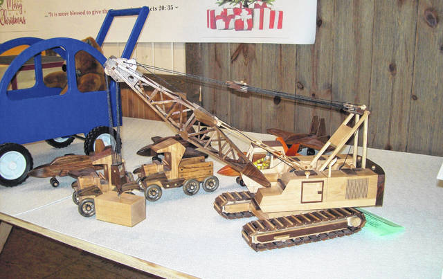 The 1st place adult division winner was Harry Niswonger, who created a replica of a Working Crane, and was awarded a $50 Ansonia Lumber Gift Certificate and a Case Knife with Gift Box. Scott Phillips, host of the popular PBS series, <em>American Woodshop</em> has been the Ansonia Lumber Wooden Toy Contest's expert judge throughout the years, making the annual competition a revered holiday event for toy makers of all ages.