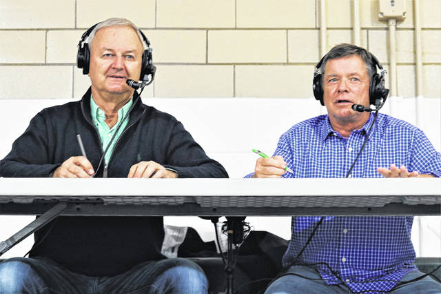 Alex Warner (L) and Ty House (R) bring another on air Greenville High School basketball game to family and fans in their 25th broadcasting season.