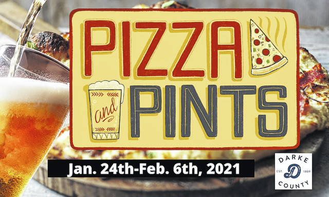 The Darke County Visitors Bureau and participating restaurants are proud to present Pizza & Pints in recognition of Restaurant Week in Ohio.