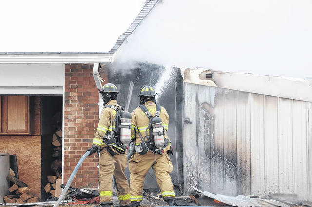 Multiple units responded to a fire Saturday in Union City, Ohio. No injuries were reported.