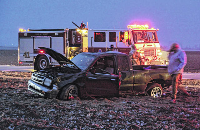 A Union City man suffered minor injuries following a rollover crash Sunday.
