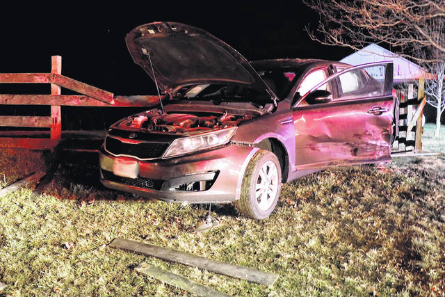 One driver was sent to Wayne HealthCare for injuries following a two-vehicle collision early Thursday morning.