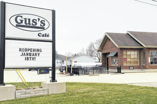 Gus's Café, located at 16 Marker Road in Versailles will be open to the public from 6 a.m. to 2 p.m., Monday through Friday beginning Monday, Jan. 18.