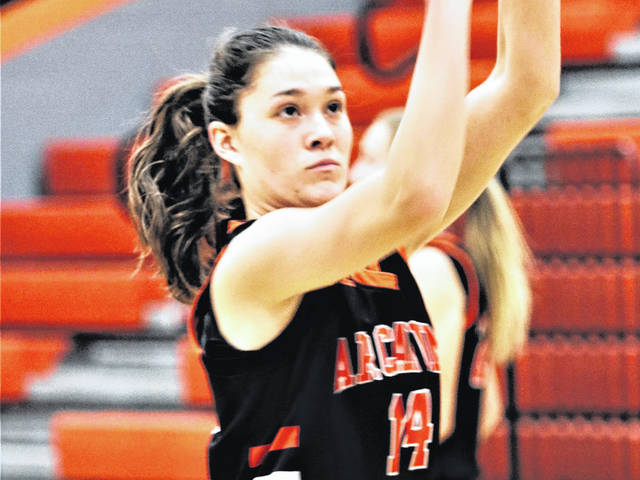 Arcanum Lady Trojans' Hailey Unger sets new single game 3-point scoring record with eight treys.