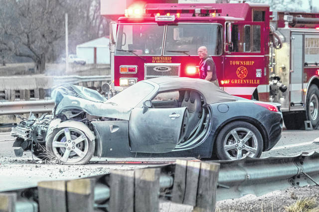A man was cited for OVI after losing control of his vehicle on U.S. Route 127 Saturday evening. The car was fully engulfed in flames but the driver escaped serious injury.