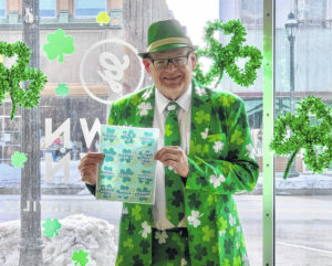 Going green for March's First Friday