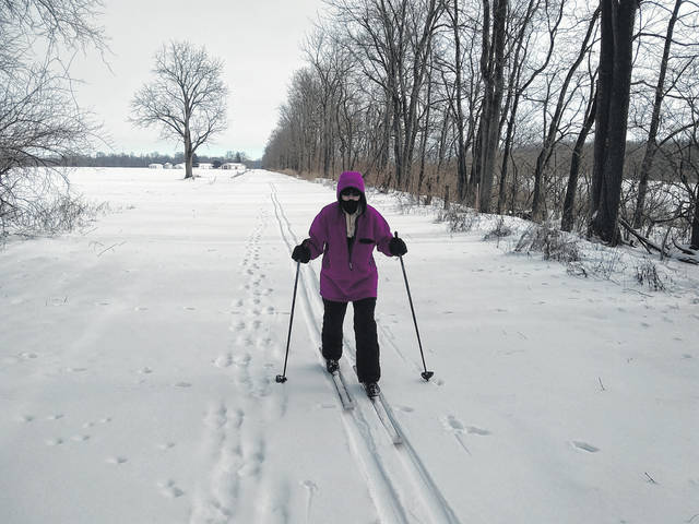 One unique portion of the Tecumseh Multi-Use trail near Gettysburg is left natural and not plowed during periods of snowfall. This portion of the trail can be used for winter activities such as cross-country skiing and winter hiking.