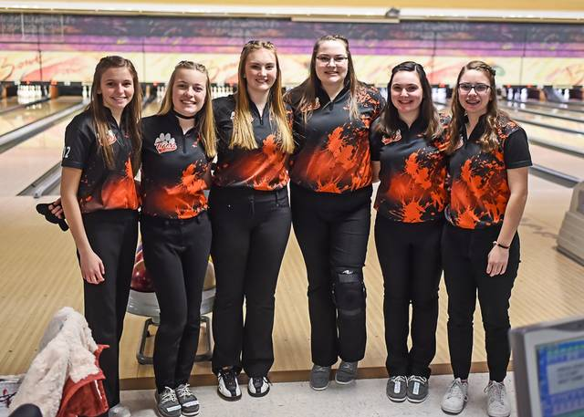 The Versailles Lady Tigers bowers compete at Districts.