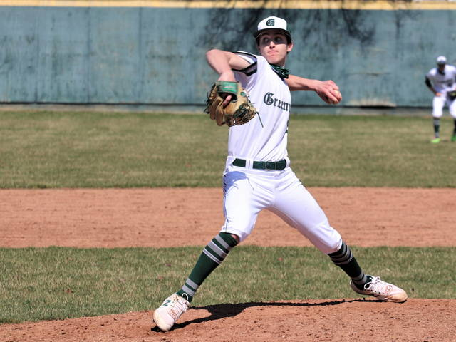 Greenville's Alex Kolb pitches two scoreless innings in relief to earn a save in the Wave's win over the Bulldogs.