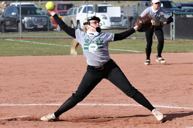 Lady Wave senior Grace Shaffer pitches for Greenville leading into the Saturday start of the OHSAA regular softball season.
