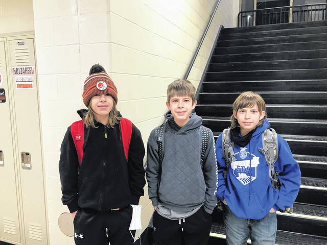 Left to right are Xavier Miller, Grifon Miller and Kaiden Miller, part of the 9th placed State Nursery/Landscape Team.