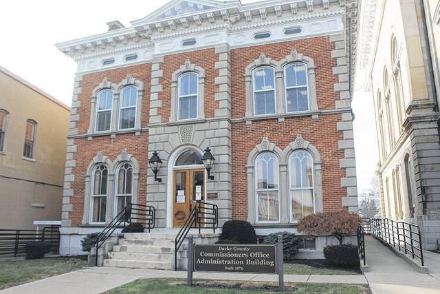 The Darke County Board of Commissioners met Wednesday afternoon for a brief meeting and discussed courthouse repairs.