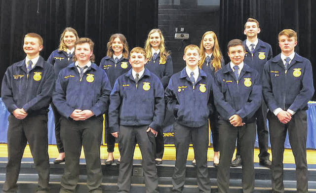 New officers for Franklin-Monroe's MVCTC FFA Chapter were installed at the group's annual banquet March 16.